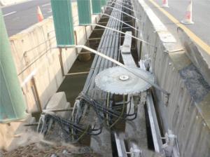 石家庄桥梁切割防撞栏拆除施工案例